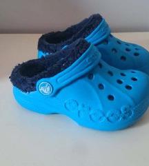 Plave crocs original sandale sa krznom