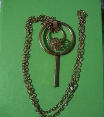 Nova dugačka statement zlatna ogrlica