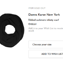 DKNY Donna Karan šal 100% kašmir%%