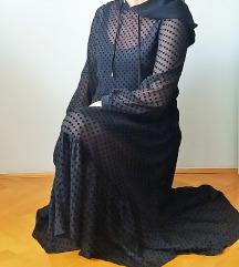 Zara haljina s točkicama i kapuljačom