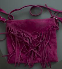 pink kožna torba na rese
