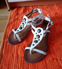 Simmy niske bijele sandale
