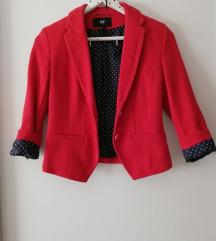 h&m crveni sako