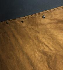 Suknja od prave velur kože