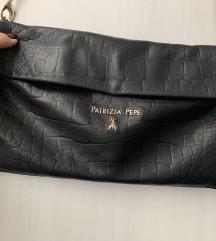 Patrizia Pepe kožna pouch torba crna