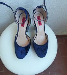 London rebel modre baršunaste cipele 39 nove