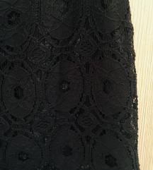 Esprit crna zenska suknja cipka 40