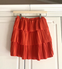 Zara mini plisirana suknja