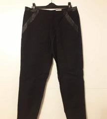 H&M poslovne hlače s kožnim detaljima