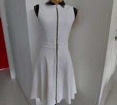 Vintage bijela haljina sa kragnom
