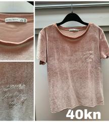 Velvet plišana majica sa natipsom
