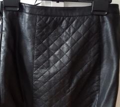 kožna kratka suknja crna  S