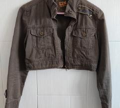 Kratka smedja jakna (keper) S/M
