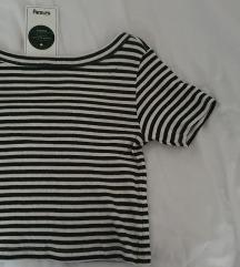 Crop majica na prugice