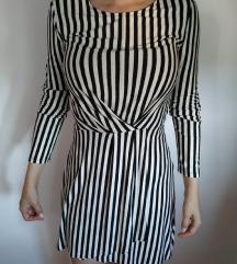 Prugasta haljina (BERSHKA)