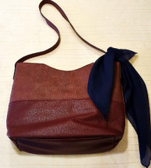 Nova KOAN bordo ljubičasta kožna torba