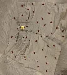 Bijele kratke hlače s bubamarama h&m