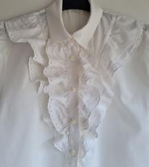Vintage bijela bluza kratkih