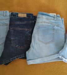 Jeans kratke hlačice 4 kom, vel 38
