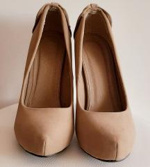 Bež pliš cipele