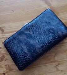 Crna croco clutch/na rame torbica