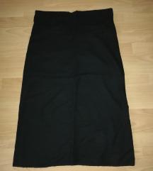 Duga lanena suknja