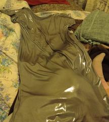 Siva Svecana haljina sa sljokicama 40