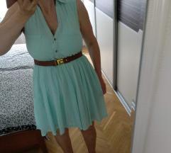 H&M mint zelena haljina