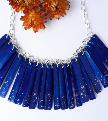 Nova plava unikat ogrlica