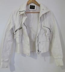 Bijela kožna jakna