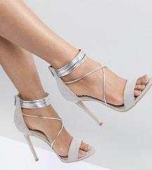 Sive / srebrne  štikle