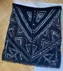 Zara suknja s perlicama i sljokicama S