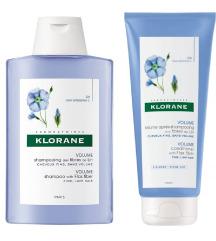 Klorane Lan Šampon + Balzam za volumen kose
