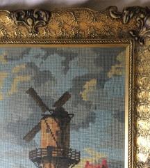 Goblen u baroknom okviru - Vjetrenjača