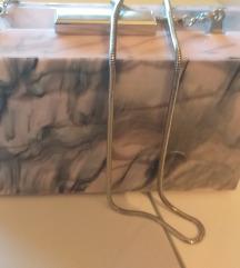 Clutch roza prosarana torbica