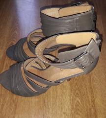Smeđe sive sandale