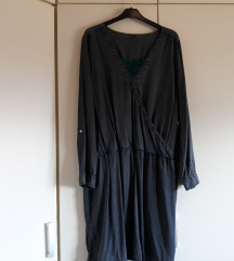 Siva plussize haljina vel 48