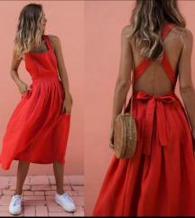 Ljetna haljina crvena
