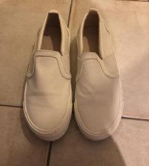Zara bijele papuče mokasinke