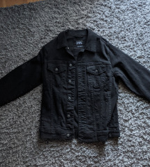 crna muška zara traper jakna
