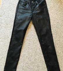 Kožne snake skin hlače W28