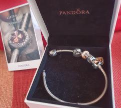 Pandora narukvica, original+poklon charms