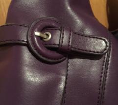 Ljubičasta kožna torba