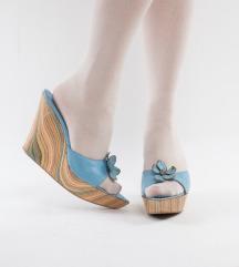 Plave kožne sandale