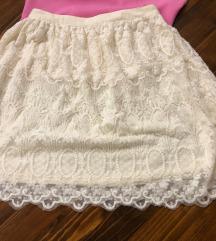 Suknja bijela čipka