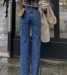 Zara traperice, visoki struk i široke nogavice