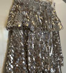 NOVA Zara suknja sa šljokicama i volanima