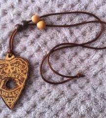 Ouija drvena ogrlica, ručni rad