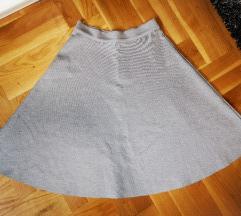 Nenošena siva suknja XS