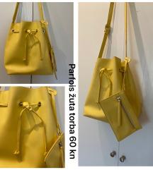 Žuta bucket torba
